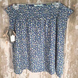 💐6/$25 Coco + Carmen Reversible Floral Skirt L
